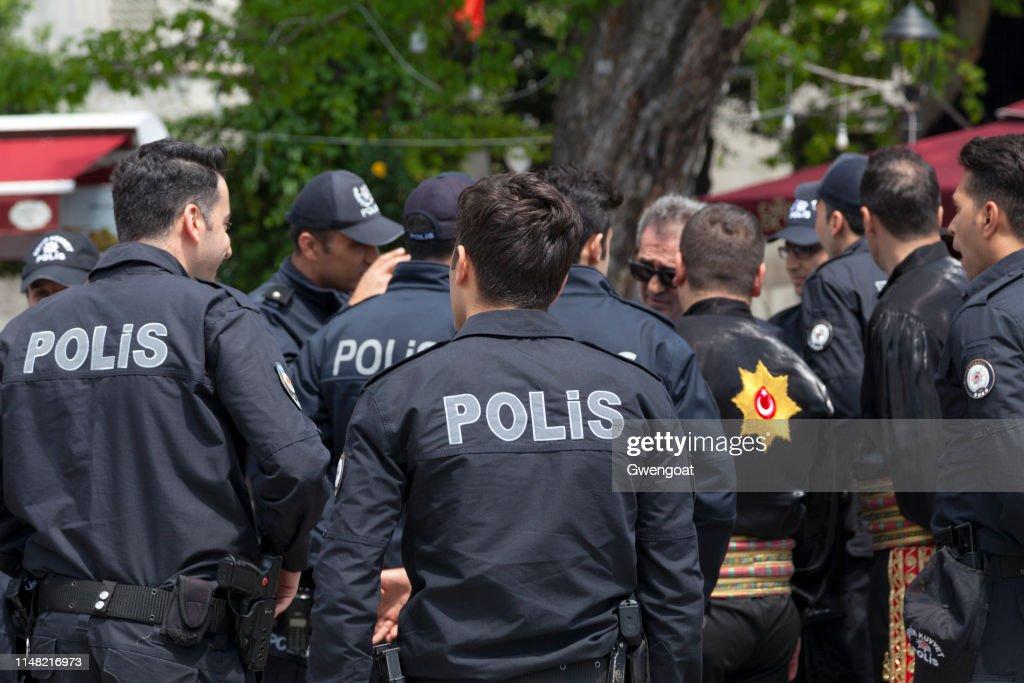 Turkish policemen : Stock Photo