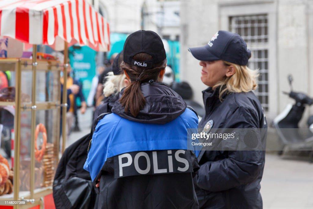 Turkish policewomen : Stock Photo
