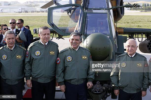 Turkish President Abdullah Gul and Turkish Prime Minister Recep Tayyip Erdogan Turkish Parliament Speaker Cemil Cicek and Turkish Land Forces...