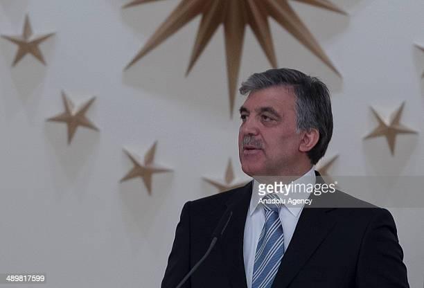 Turkish President Abdullah Gul gives a dinner in honor of Bakir Izzetbegovic the Bosniak member of the threemembered presidency council of Bosnia and...