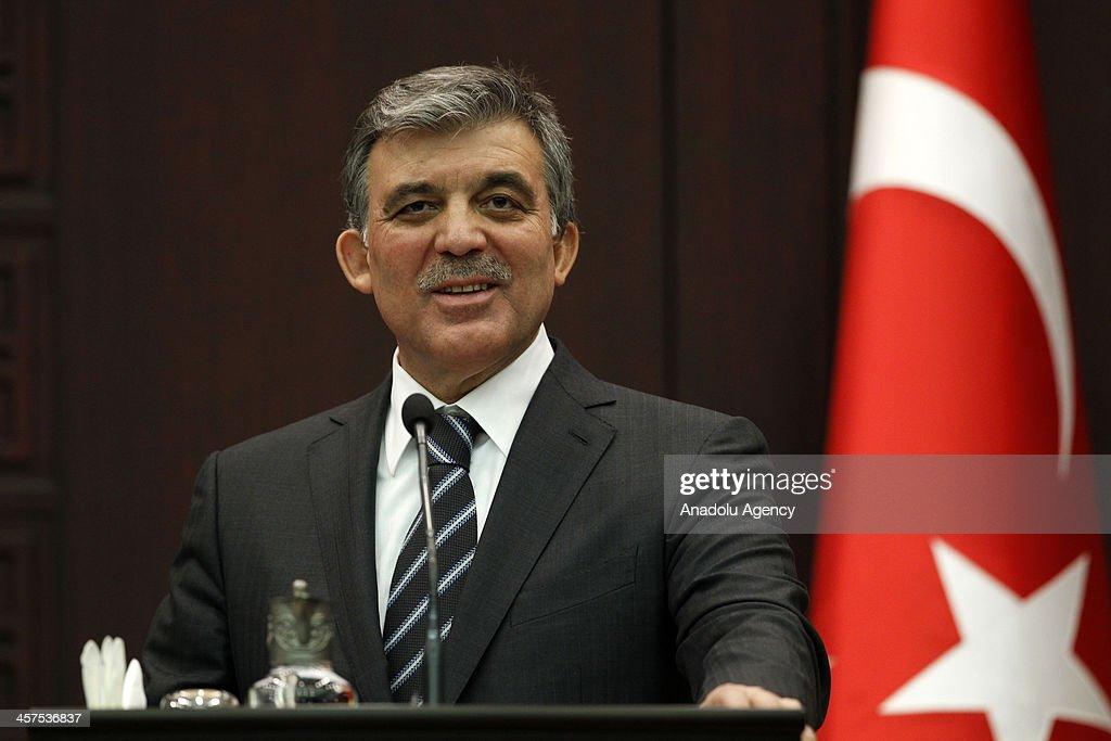 Turkish President Gul - Moldova's President Timofti : News Photo