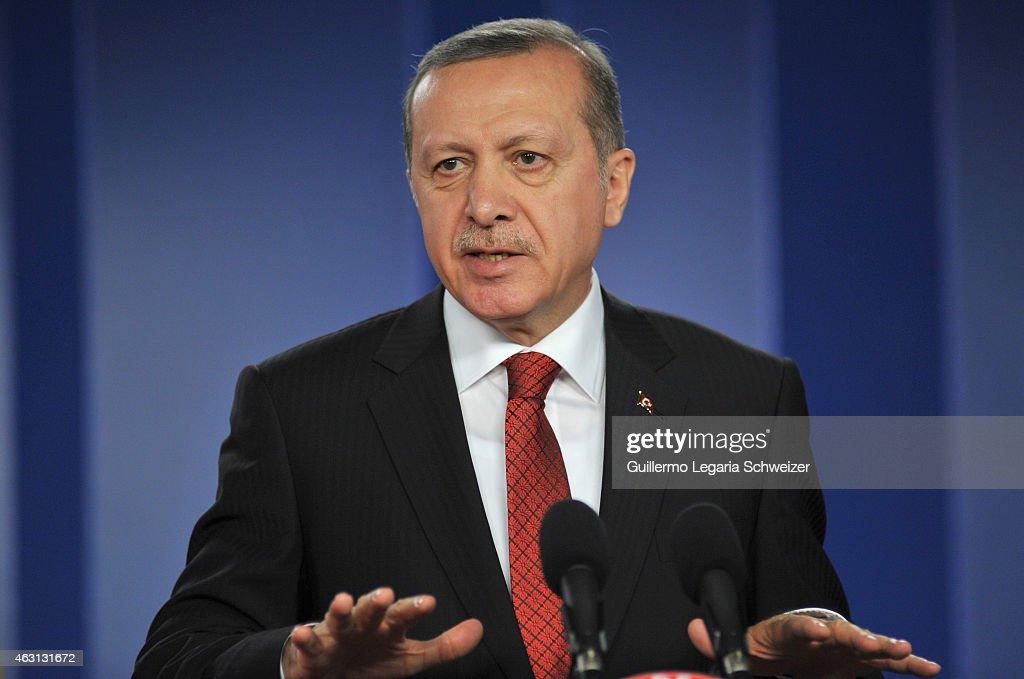Recep Tayyip Erdogan Visits Juan Manuel Santos