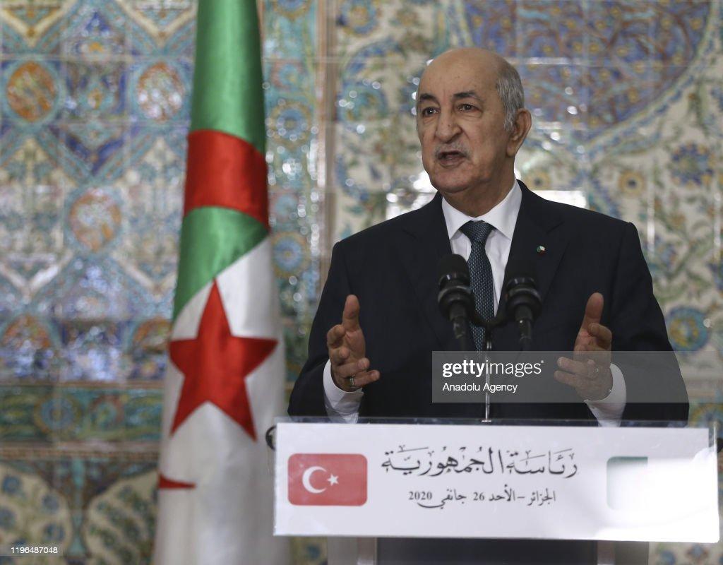 Erdogan - Tebboune meeting in Algeria : News Photo