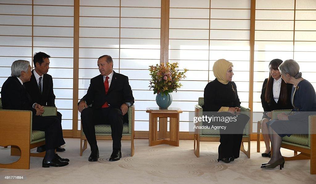 Turkish President Recep Tayyip Erdogan in Japan : News Photo