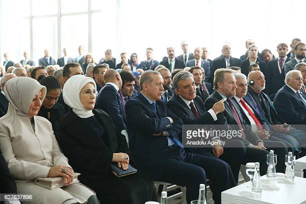 Turkish President Recep Tayyip Erdogan and his wife Emine Erdogan Turkish Prime Minister Binali Yildirim Turkey's former President Abdullah Gul and...