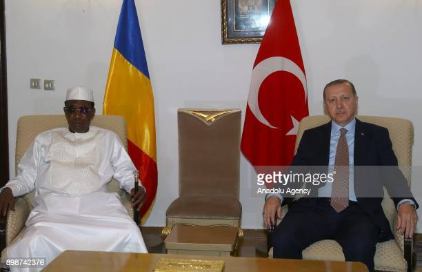 N'DJAMENA CHAD DECEMBER 26 Turkish President Recep Tayyip Erdogan and President of Chad Idriss Deby hold a meeting in N'Djamena Chad on December 26...