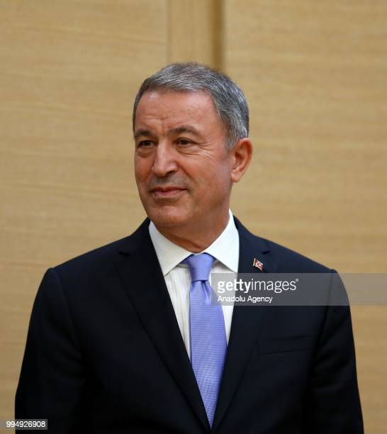 Turkish President Recep Tayyip Erdogan appoints Hulusi Akar as Turkey's new National Defense Minister as he announces Turkish Cabinet after taking...