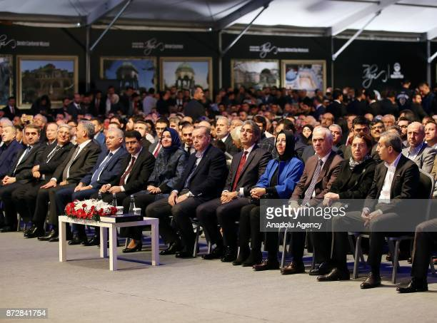 Turkish President Recep Tayyip Erdogan attends the program on revival and restoration of cultural heritage projects organised by Fatih Municipality...