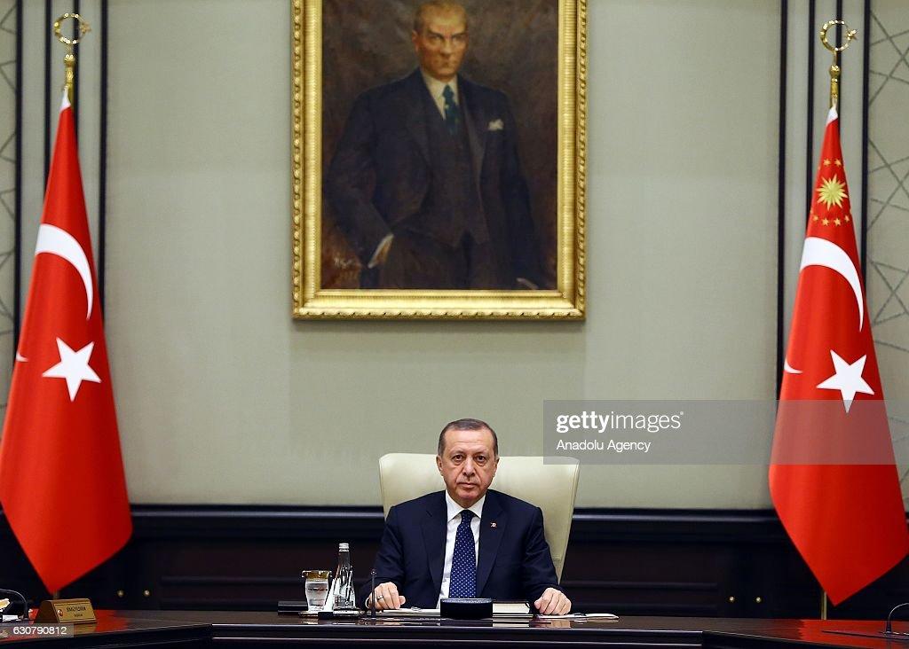 Turkish President Erdogan chairs cabinet meeting : News Photo