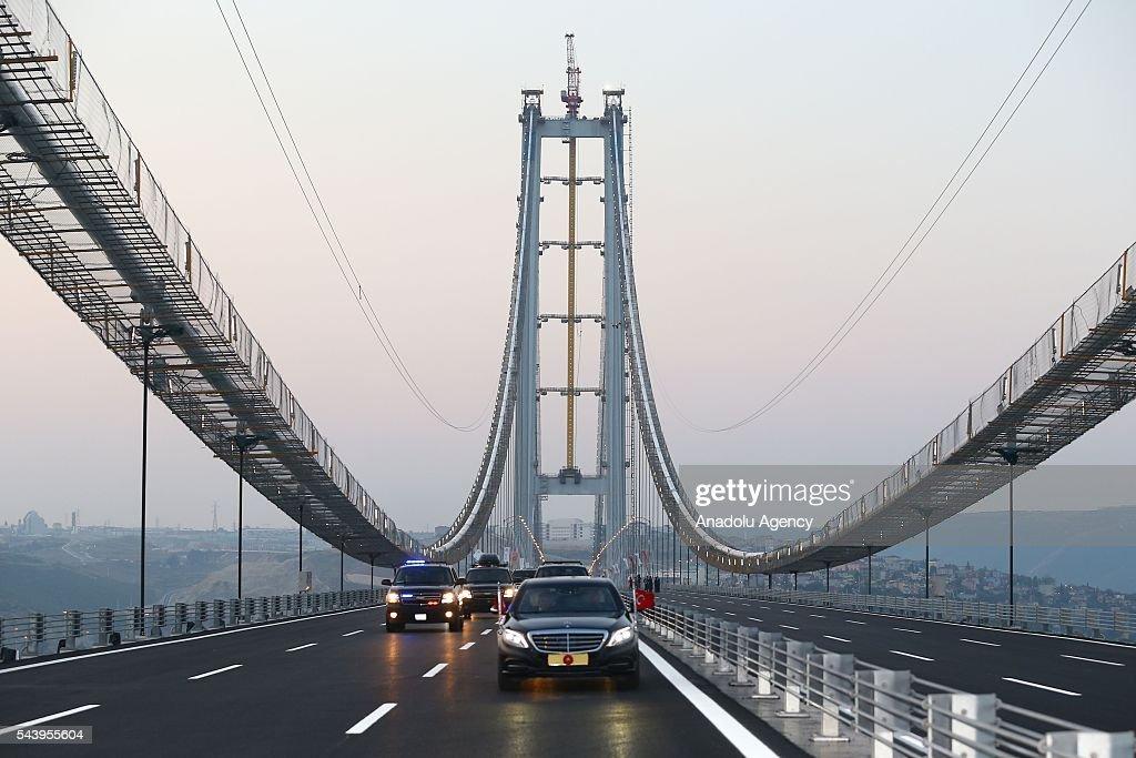 Opening ceremony of Osmangazi Bridge : News Photo