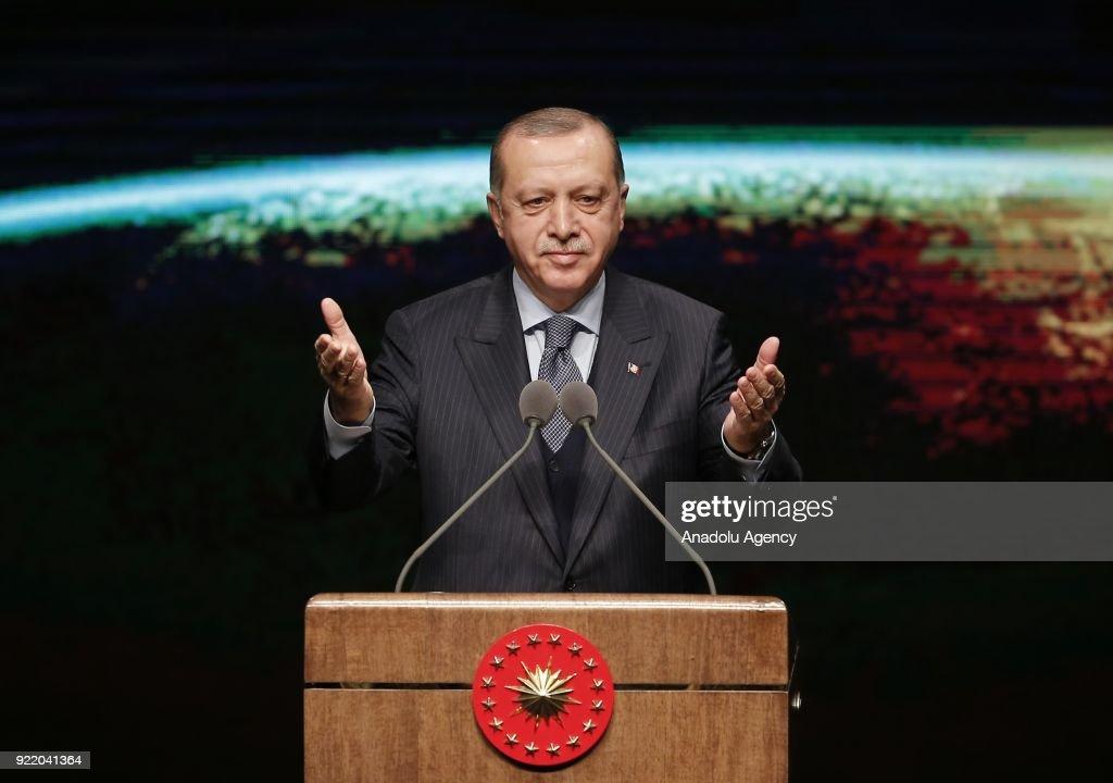 Turkish President Recep Tayyip Erdogan... : News Photo