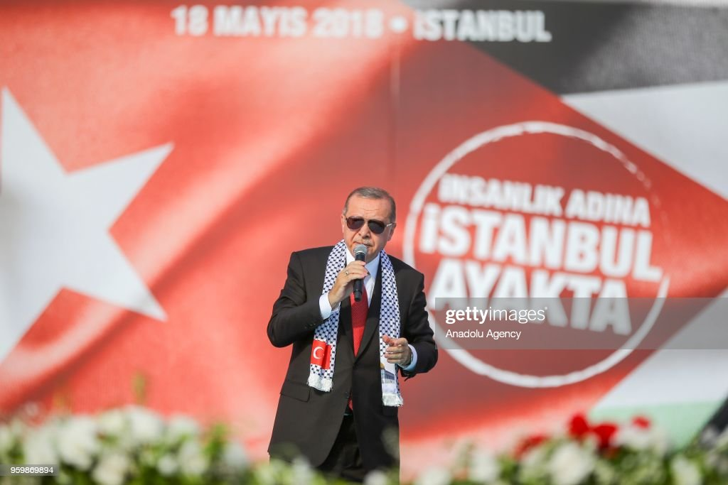 Mass rally to support Palestinians begins in Istanbul : News Photo