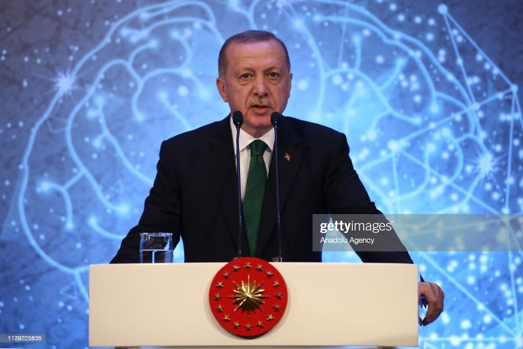 Turkish President Recep Tayyip Erdogan... : News Photo