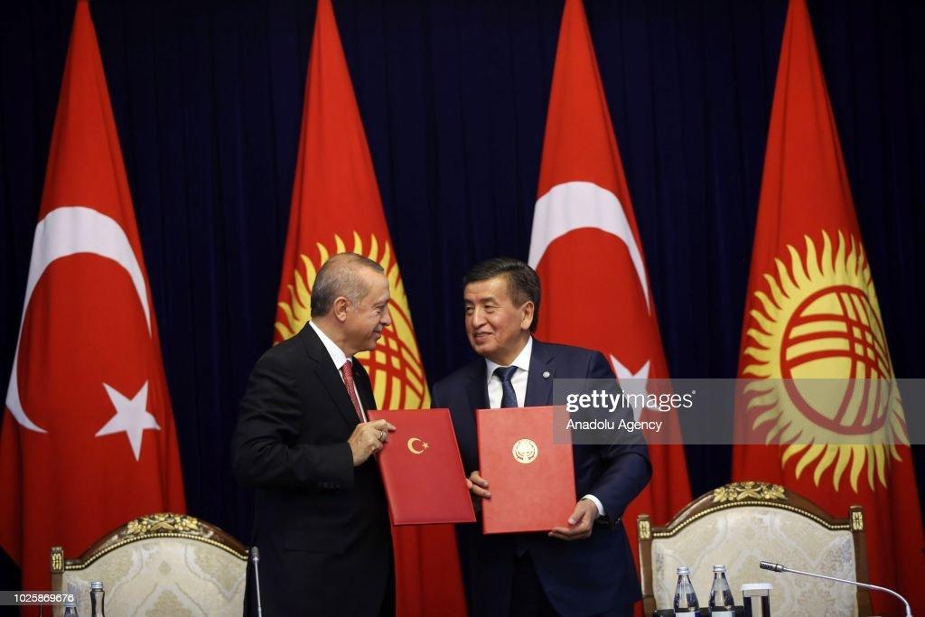 Turkish President Recep Tayyip Erdogan In Bishkek Pictures Getty