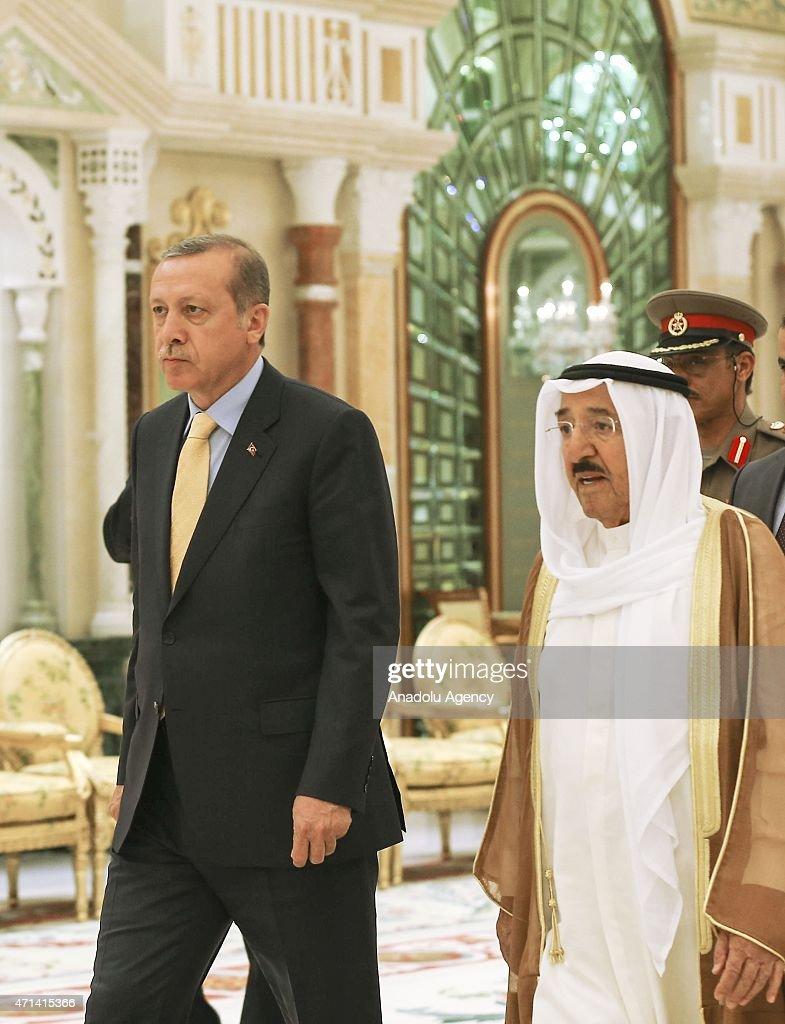 Turkish President Erdogan visits Kuwait : News Photo