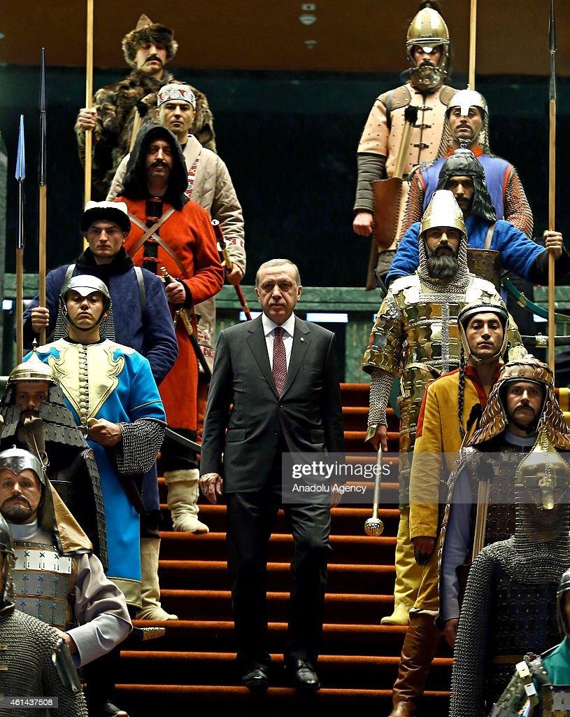 Turkish President Erdogan meets Palestinian President Abbas in Ankara : News Photo