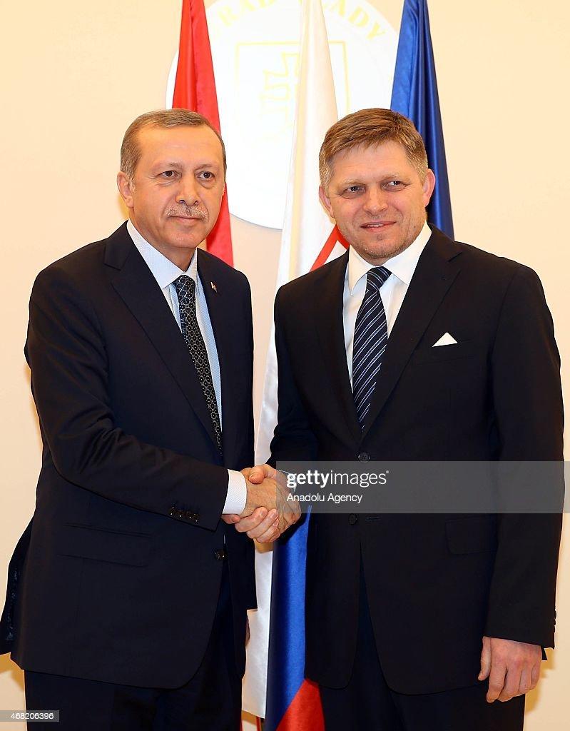 Turkish President Recep Tayyip Erdogan Visits Slovakia