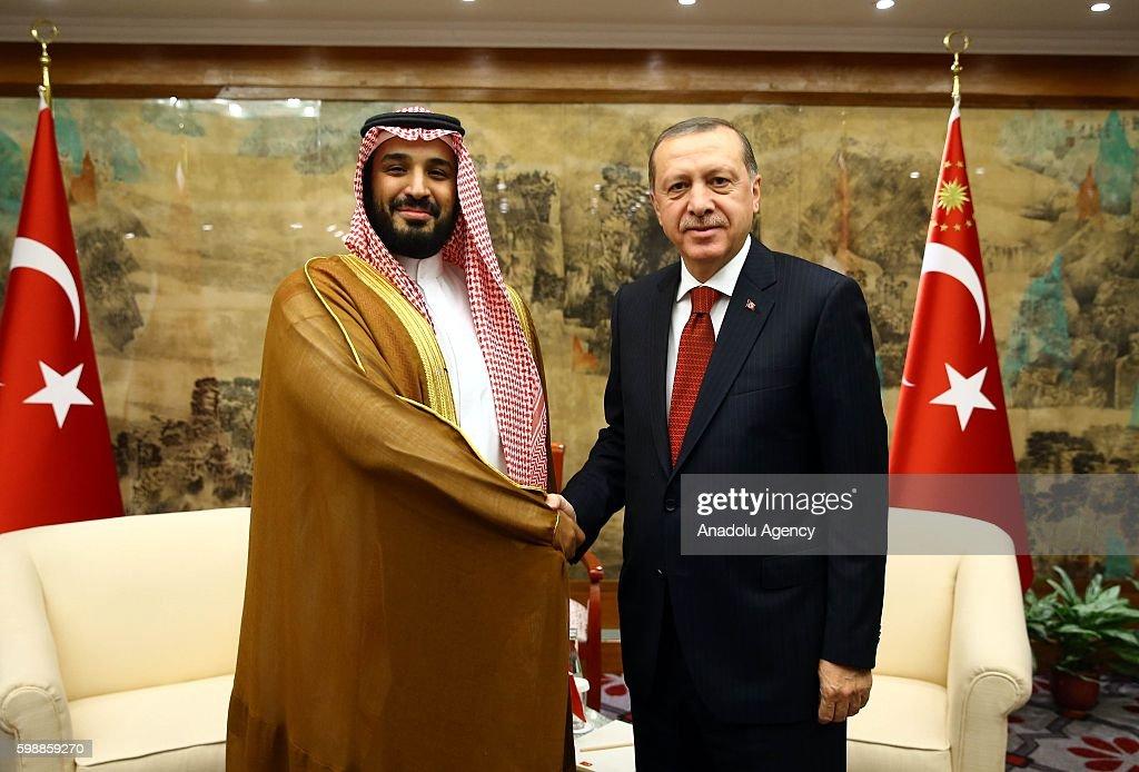 Turkish President Erdogan in China : Nieuwsfoto's