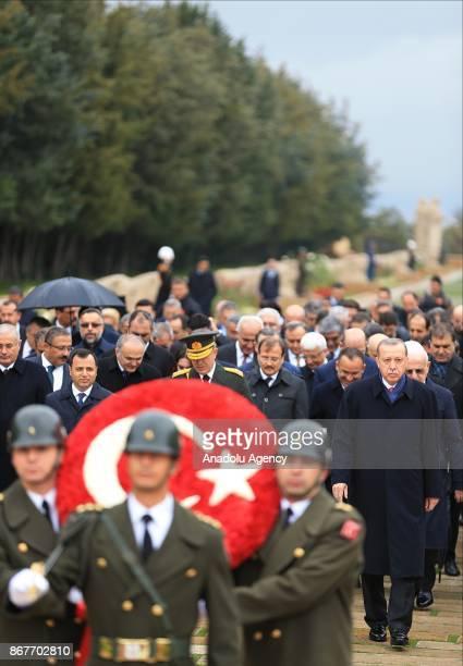 Turkish President Recep Tayyip Erdogan Speaker of the Grand National Assembly Ismail Kahraman Prime Minister Binali Yildirim Kemal Kilicdaroglu...