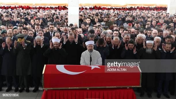 Turkish President Recep Tayyip Erdogan Speaker of the Grand National Assembly of Turkey Ismail Kahrama Turkish Prime Minister Binali Yildirim...