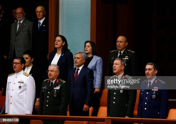 Turkish President Recep Tayyip Erdogan takes oath of office to become first president under new system of government at Grand National Assembly of...