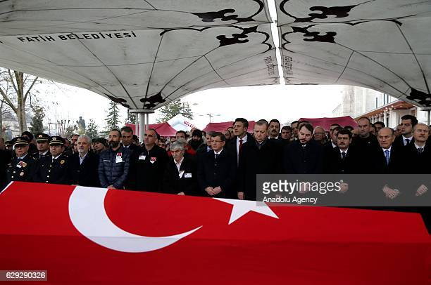 Turkish President Recep Tayyip Erdogan , Turkey's Former Prime Minister Ahmet Davutoglu , Turkish Minister of Energy and Natural Resources Berat...
