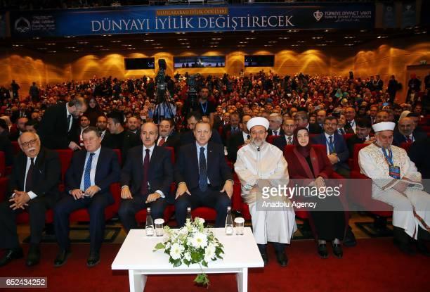 Turkish President Recep Tayyip Erdogan Turkish Culture and Tourism Minister Nabi Avci Turkish Deputy Prime Minister Numan Kurtulmus President of the...