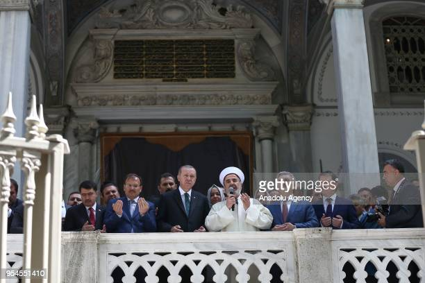 Turkish President Recep Tayyip Erdogan, Turkish Deputy Prime Minister Hakan Cavusoglu, Turkish Minister of Family and Social Policies Fatma Betul...