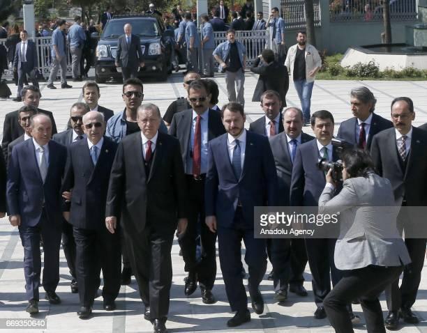 Turkish President Recep Tayyip Erdogan , Turkish Minister of Energy and Natural Resources, Berat Albayrak , Turkish Presidential spokesman Ibrahim...