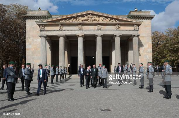 Turkish President Recep Tayyip Erdogan visits Central Memorial of the Federal Republic of Germany for the Victims of War and Dictatorship 'Neue...
