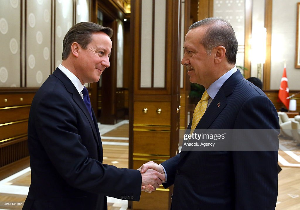 Recep Tayyip Erdogan - David Cameron : News Photo
