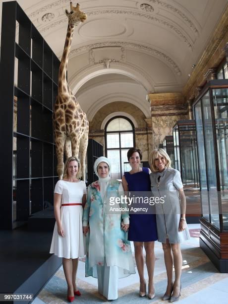Turkish President Recep Tayyip Erdogan's wife Emine Erdogan French President Emmanuel Macron's wife Brigitte Macron Belgian Prime Minister's partner...