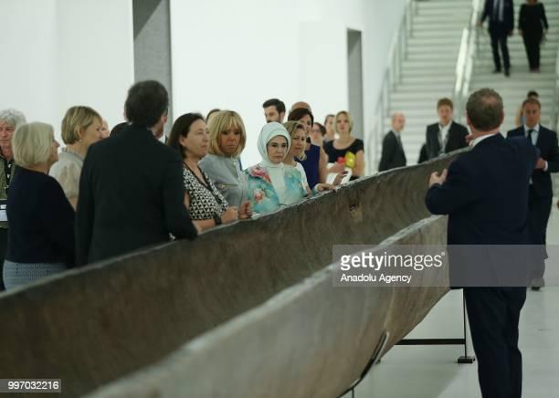 Turkish President Recep Tayyip Erdogan's wife Emine Erdogan French President Emmanuel Macron's wife Brigitte Macron Slovenian Prime Minister's wife...