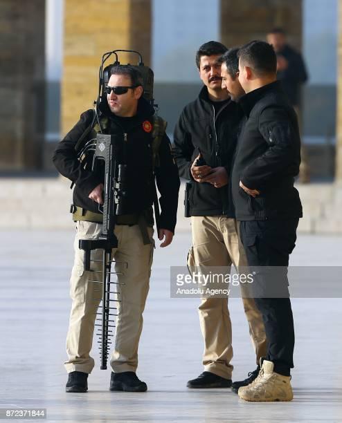 Turkish Presidential guards stand guard with an antidrone gun as Turkish President Recep Tayyip Erdogan Kemal Kilicdaroglu head of the Republican...