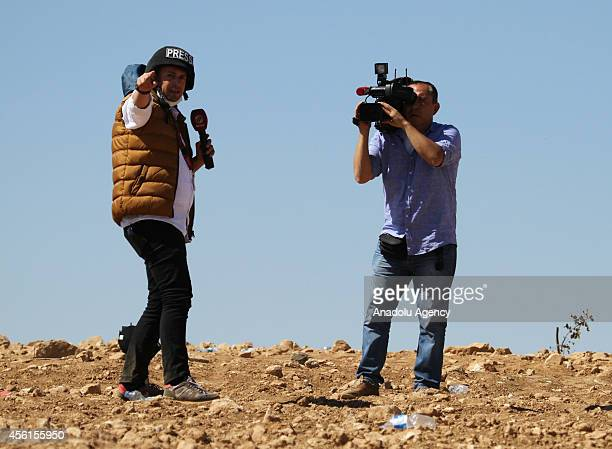 Turkish press members report clashes between People's Protection Units armed wing of Democratic Union Party and Islamic State of Iraq and the Levant...