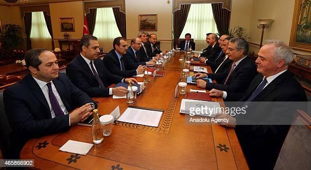 Turkish Prime Minister Ahmet Davutoglu deputy Prime Minister Ali Babacan deputy Prime Minister Numan Kurtulmus Foreign Minister Mevlüt Cavusoglu...