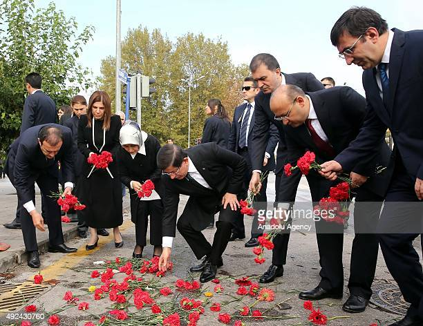 Turkish Prime Minister Ahmet Davutoglu , his wife Sare Davutoglu , deputy Prime Ministers Cevdet Yilmaz , Yalcin Akdogan and Justice and Development...