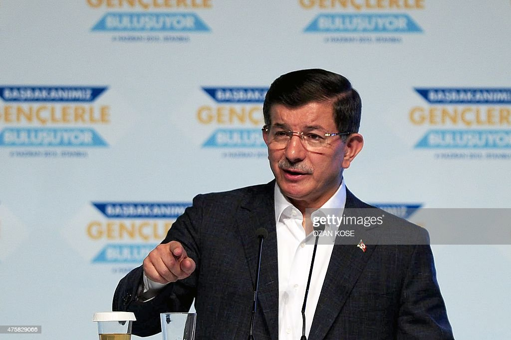 TURKEY-VOTE-DAVUTOGLU : News Photo