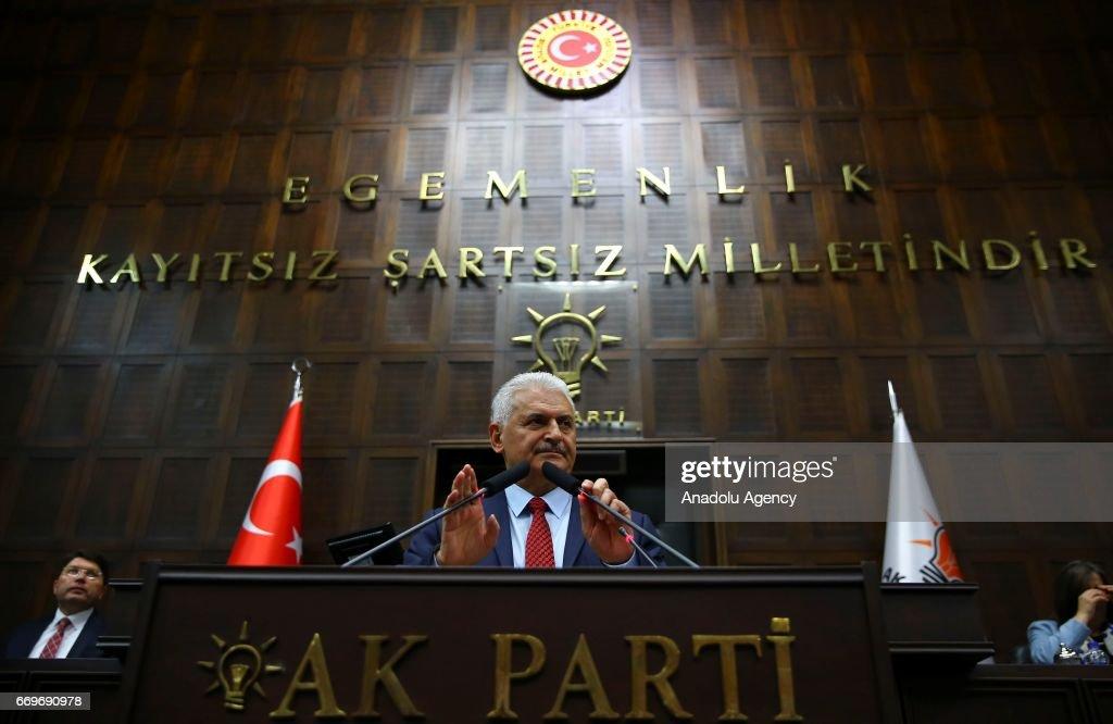 AK Party Group Meeting in Ankara : News Photo