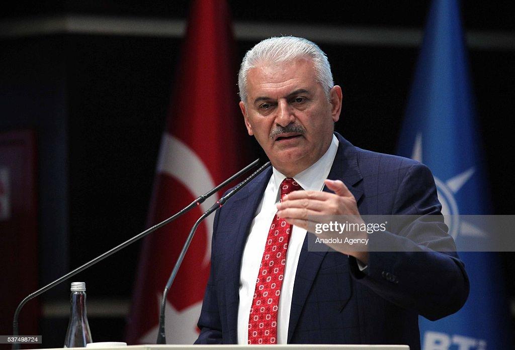 Turkish Prime Minister Binali Yildirim in Ankara : News Photo