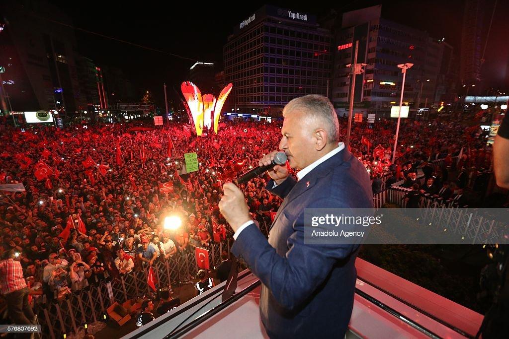 Turkish PM Binali Yildirim in Ankara  : News Photo