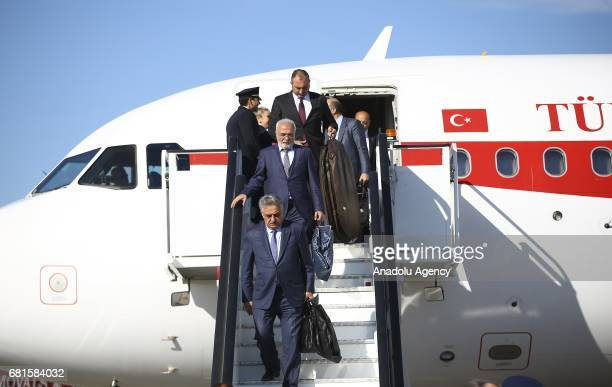 Turkish Prime Minister Binali Yildirim arrives to London Stansted Airport ahead of his official meetings in London United Kingdom on May 10 2017