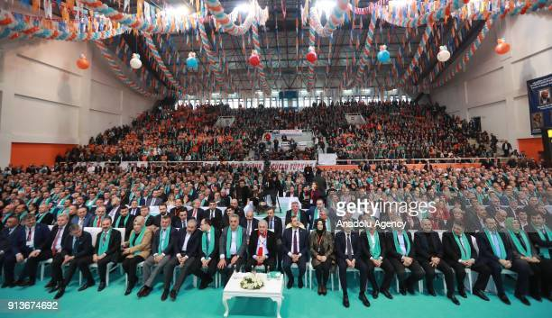 Turkish Prime Minister Binali Yildirim attends the 6th Ordinary Provincial Congress of AK Party in Tekirdag province of Turkey on February 3, 2018.