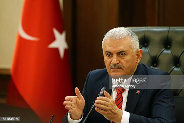 Turkish Prime Minister Binali Yildirim chairs cabinet meeting at Cankaya Palace in Ankara Turkey on June 4 2016