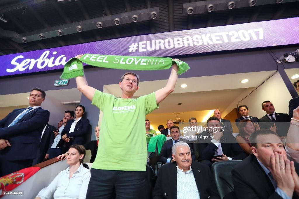 Leaders meet to watch Eurobasket 2017 final match in Istanbul : News Photo