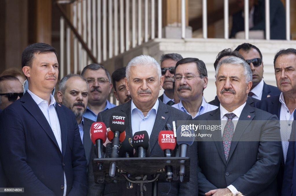 Turkish PM Binali Yildirim : News Photo