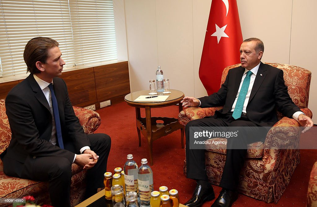 Erdogan - Kurz : News Photo