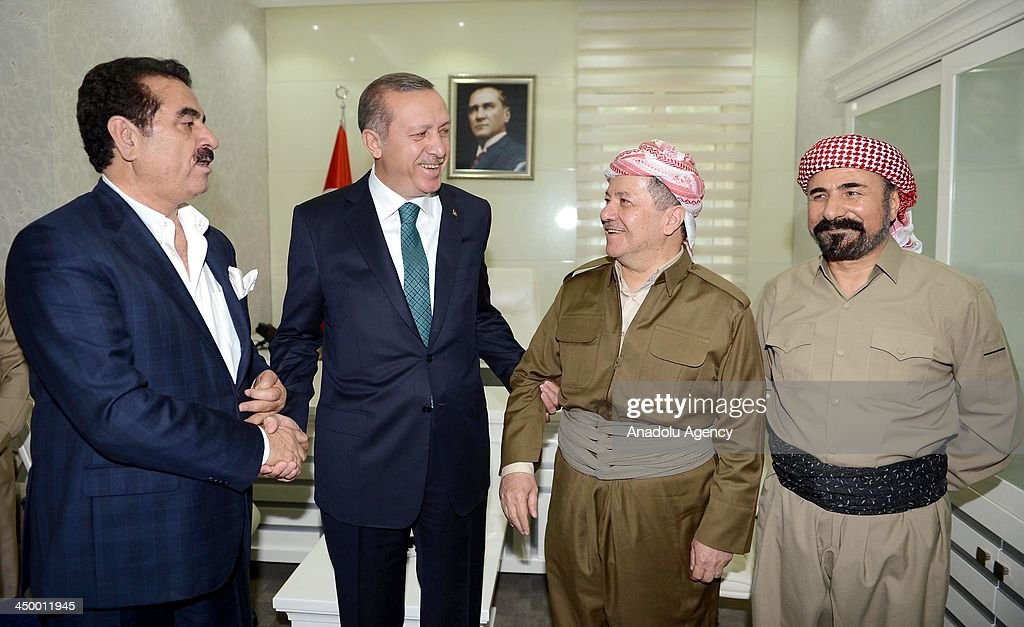 Turkish Prime Minister Recep Tayyip Erdogan visits Diyarbakir governorship : News Photo