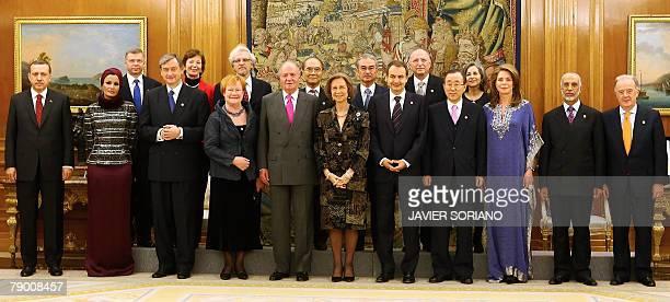 Turkish Prime Minister Recep Tayyip Erdogan, wife of the Emir of Qatar, Sheikha Mozah bint Nasser Al Missned, Slovenia's President Danilo Turk,...