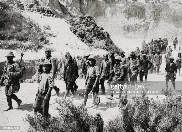 Turkish prisoners captured by the British on the peninsula of Gallipoli Turkey World War I photo by Central News from L'Illustrazione Italiana Year...